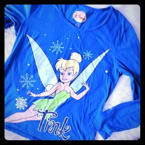 Disney XL tinkerbell xmas shirt long sleeve Tink